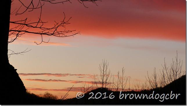 November mountain sunset