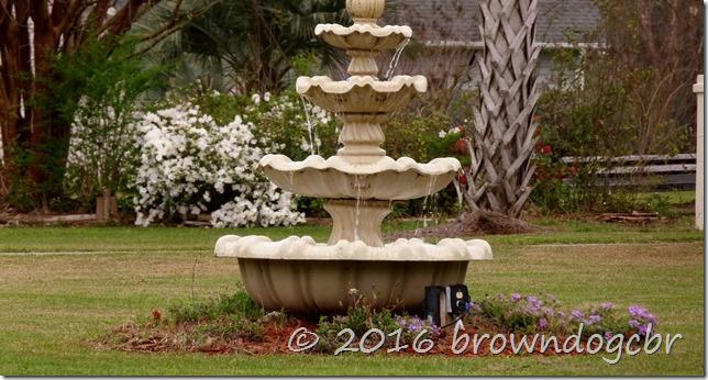 Neighbor's fountain