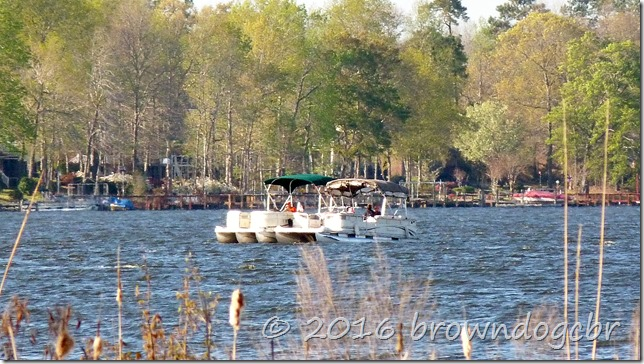 Boaters enjoying the warm weather