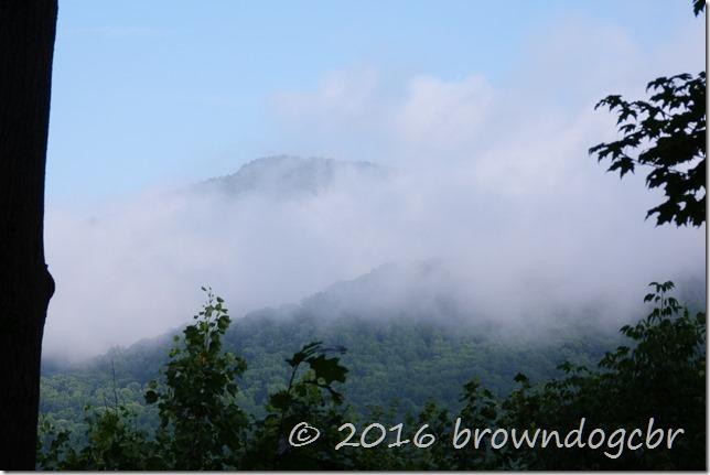 morning mist burning off